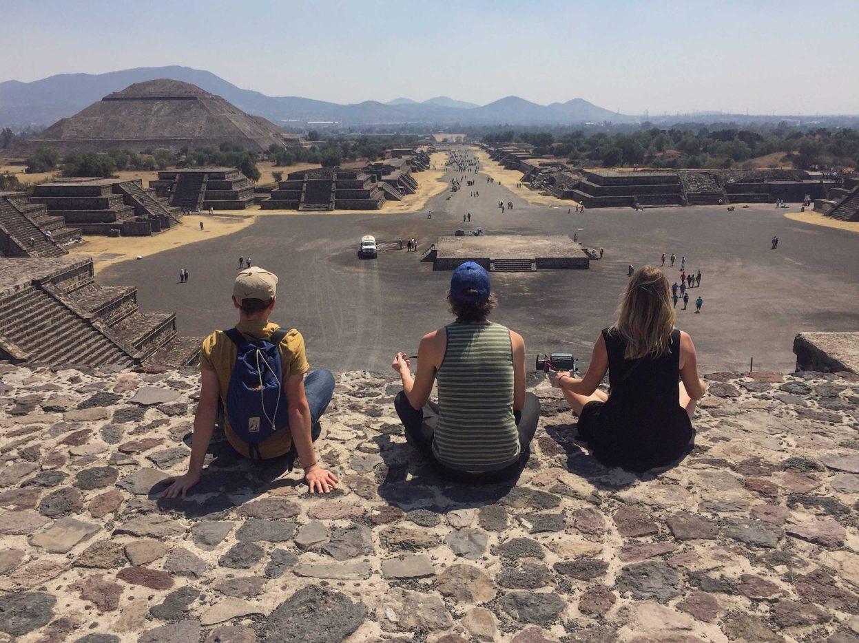 Teohutican Mexico, Aztec ruin