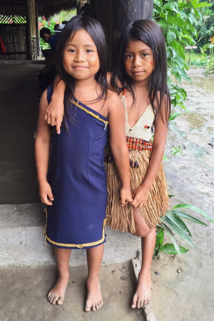 Children in the Amazon, Tena, Ecuador
