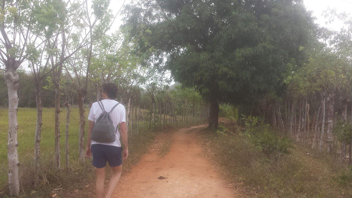 Las Galeras Hiking, road to Fronton