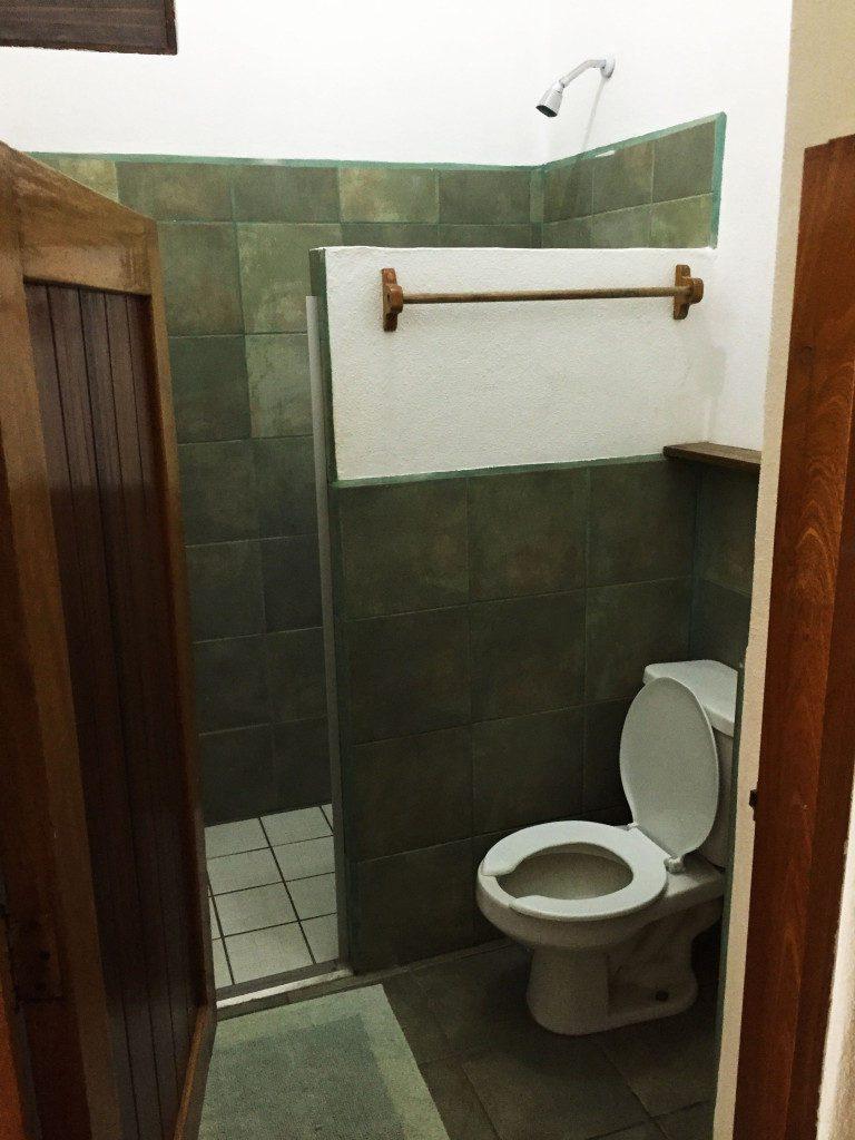 View of the bathroom - notice the half door.