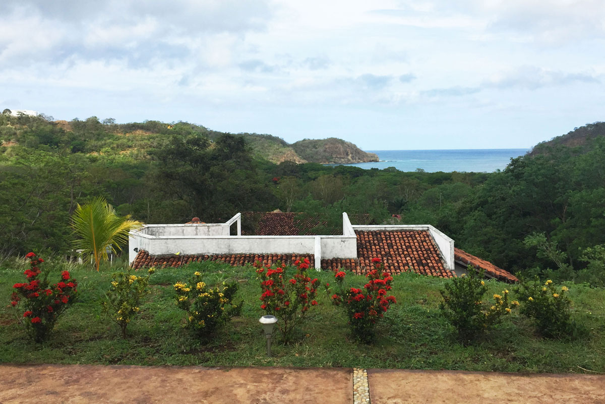San Juan del Sur rental home view.