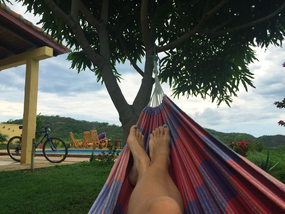 Hammock break in San Juan del Sur.