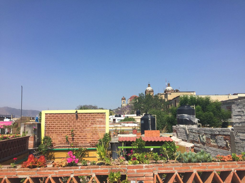 View of the city from the beautiful rooftop.