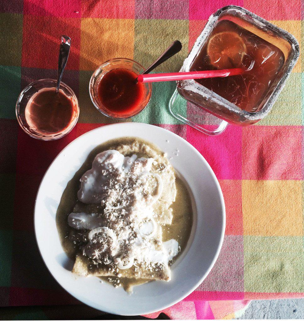 Micheladas, enchiladas verdes, and fantastic salsas.