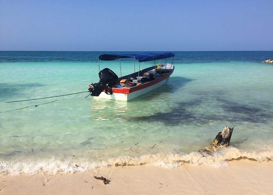 Boat in Tintipan, San Bernardo Islands, Colombia