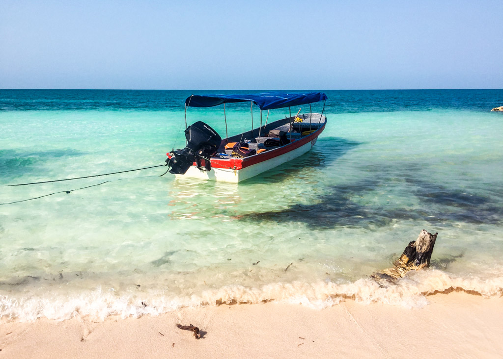 Boat in Tintipan, San Bernardo Islands, Colombia