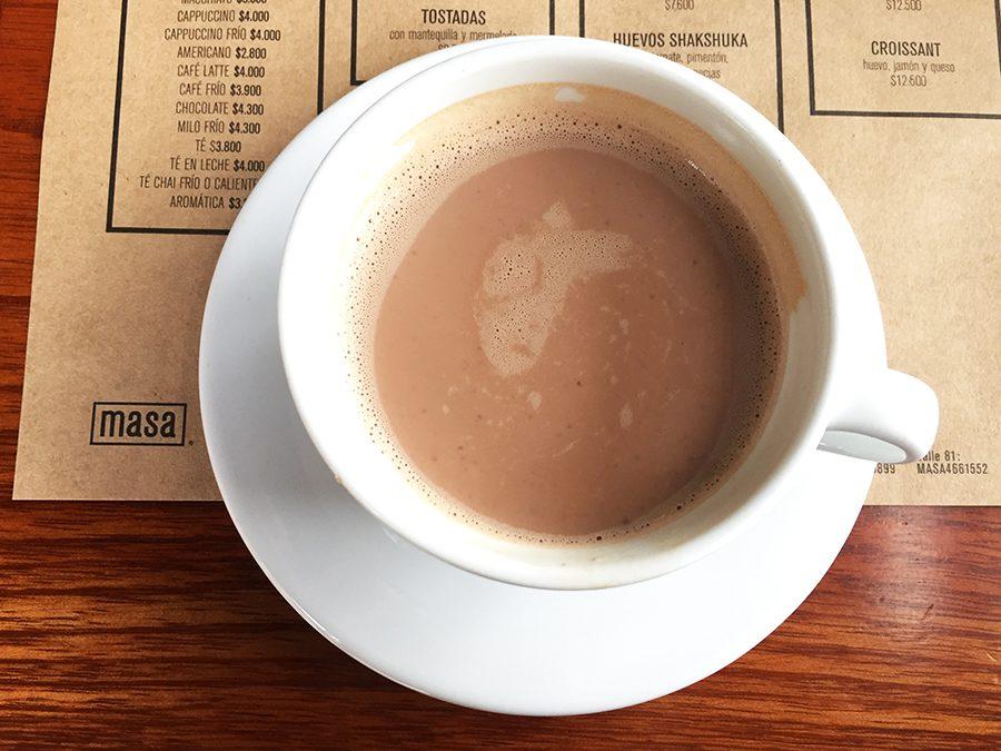 Hot chocolate at Masa Bogota