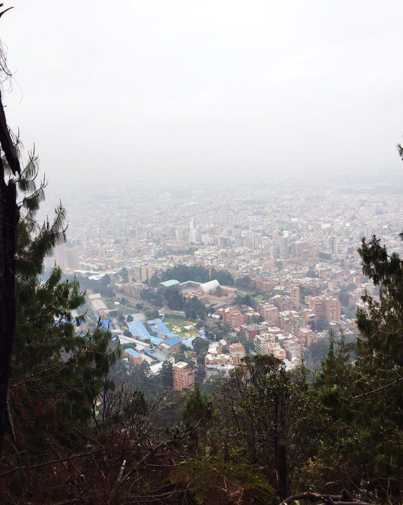 City view from el virgen statue bogota