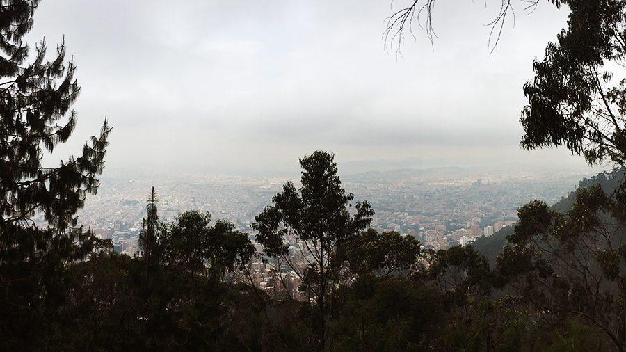 bogota city view from quebrada la vieja hike