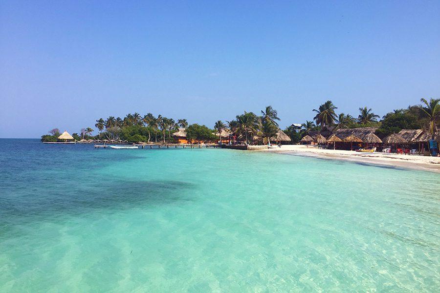 Coastline of Tintipan, San Bernardo Islands, Colombia