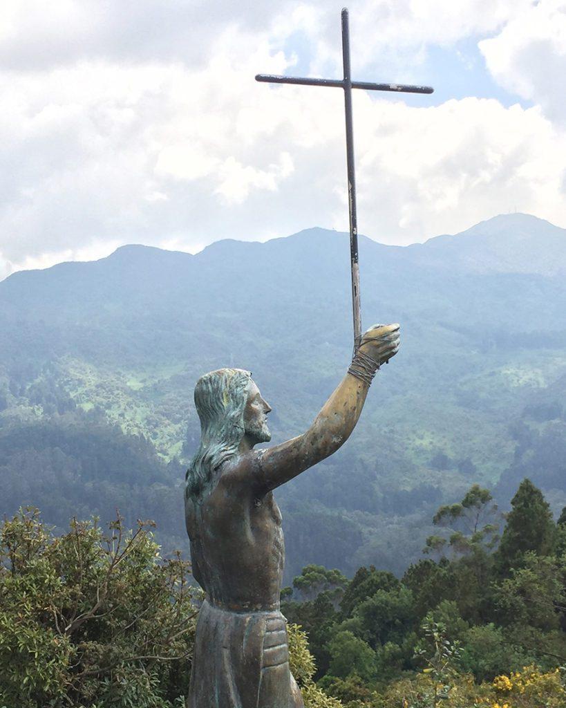 Cross on Monserrate Bogota Colombia
