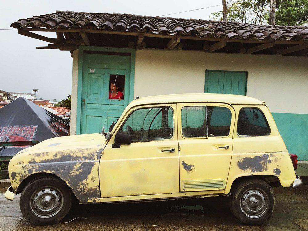 Cute car in Salento, Colombia