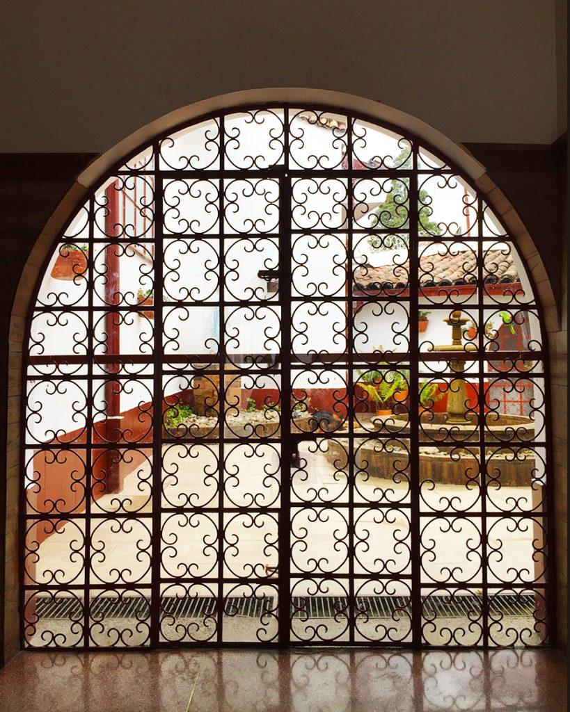 Doorway in Monserrate church Bogota Colombia
