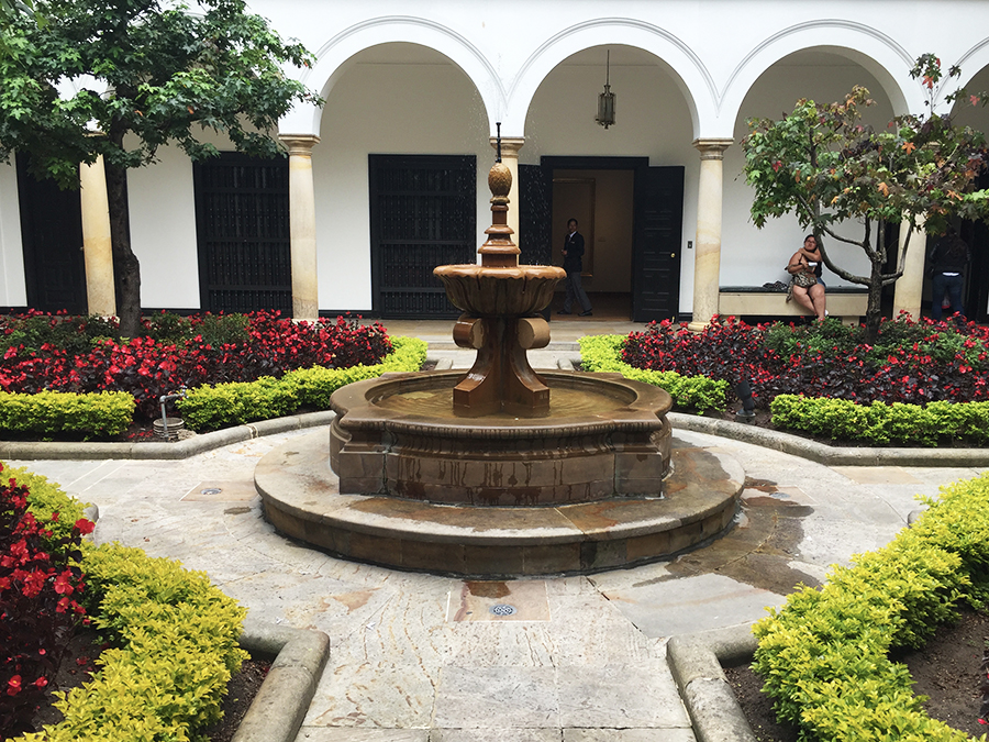 Courtyard in Botero Museum Bogota