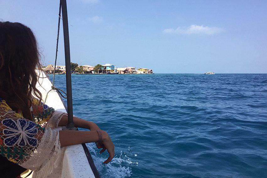 Boat to San Bernardo Islands Colombia