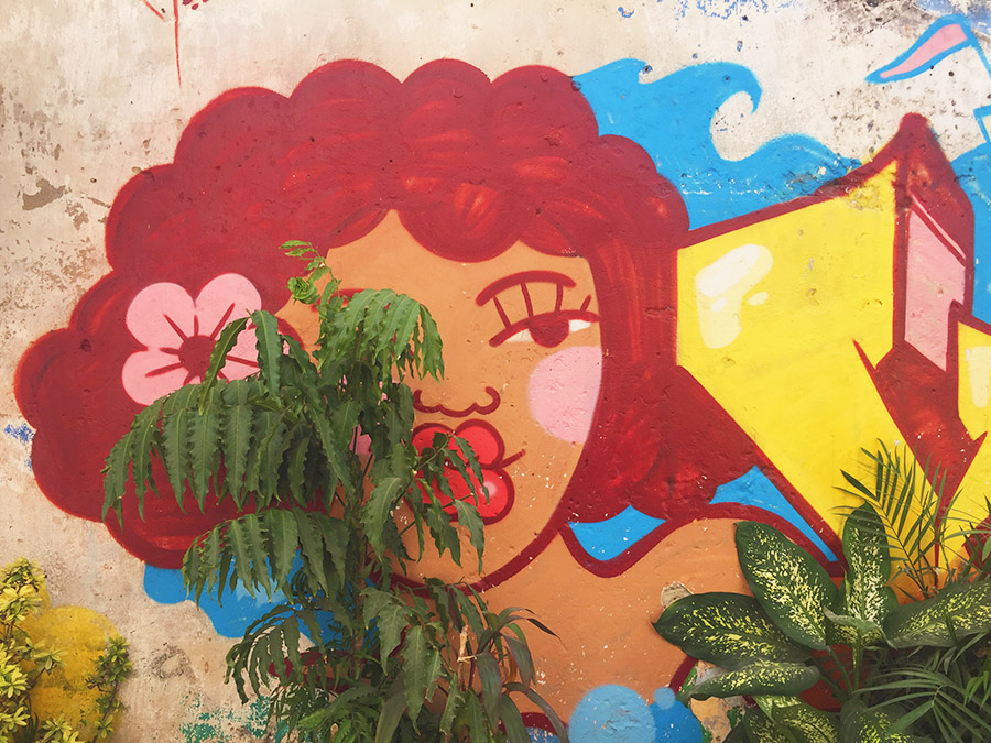 street art in Cartagena Colombia