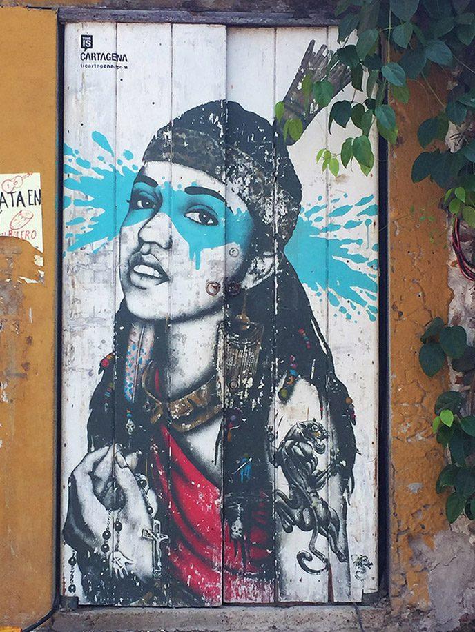 Mural of a girl Cartagena