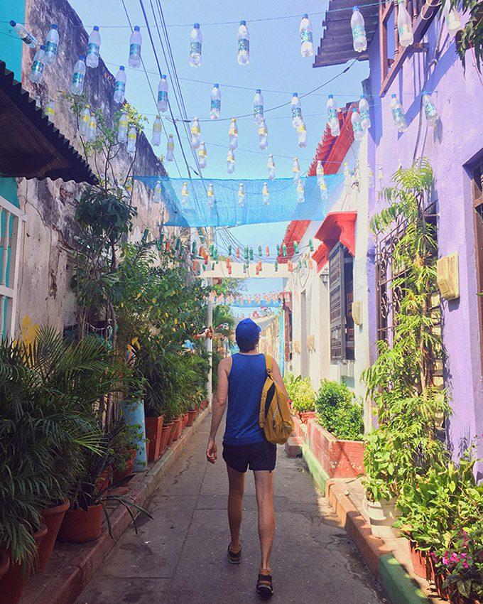 Alley in Cartagena Colombia
