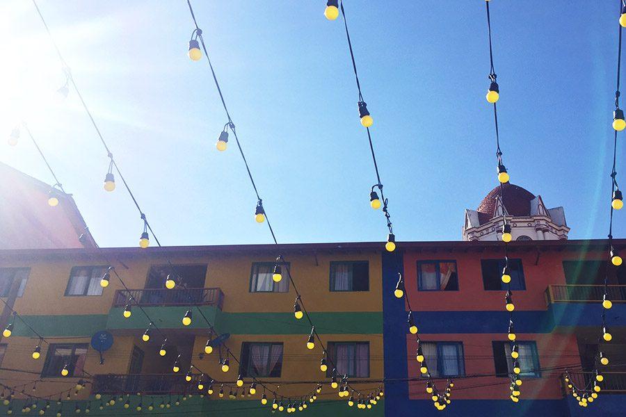 lights in Zocalito in Guatape Colombia