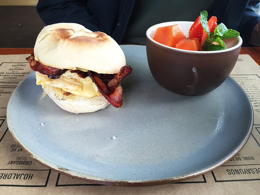 Sandwich at Masa Bogota