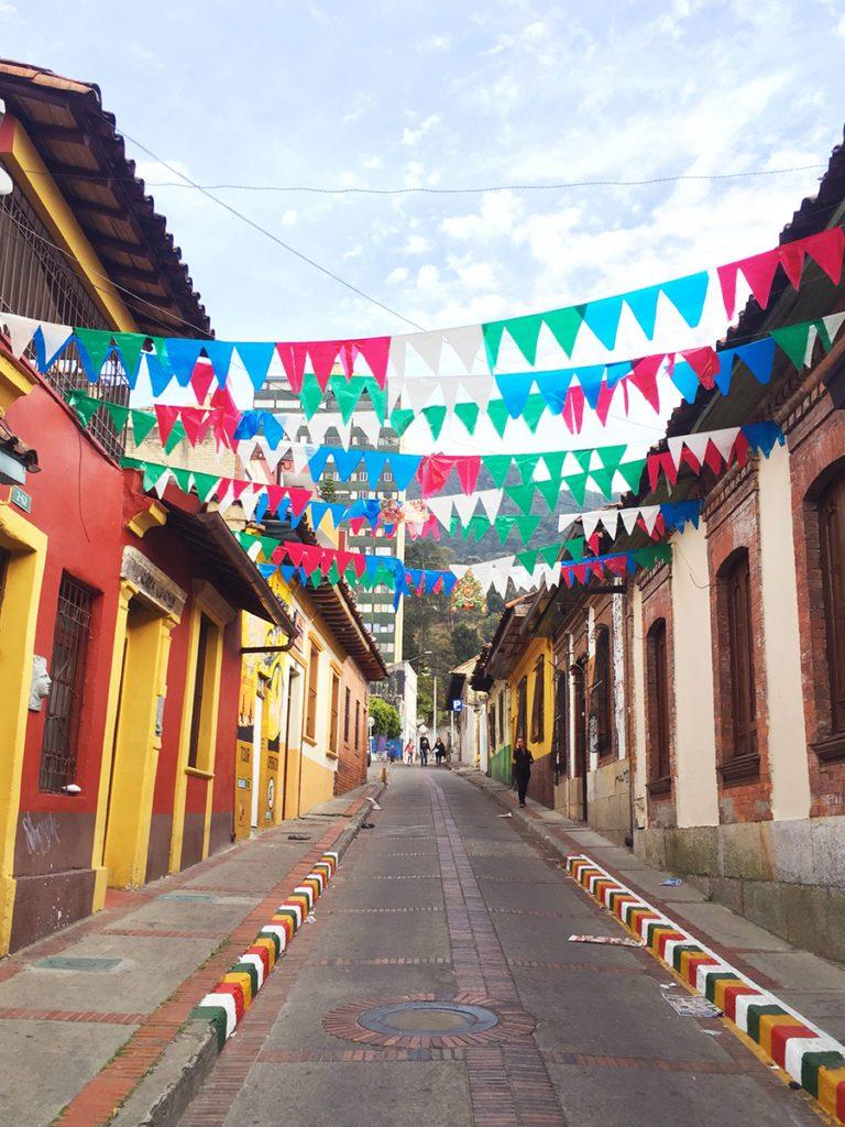 La Candelaria Street in Bogota Colombia