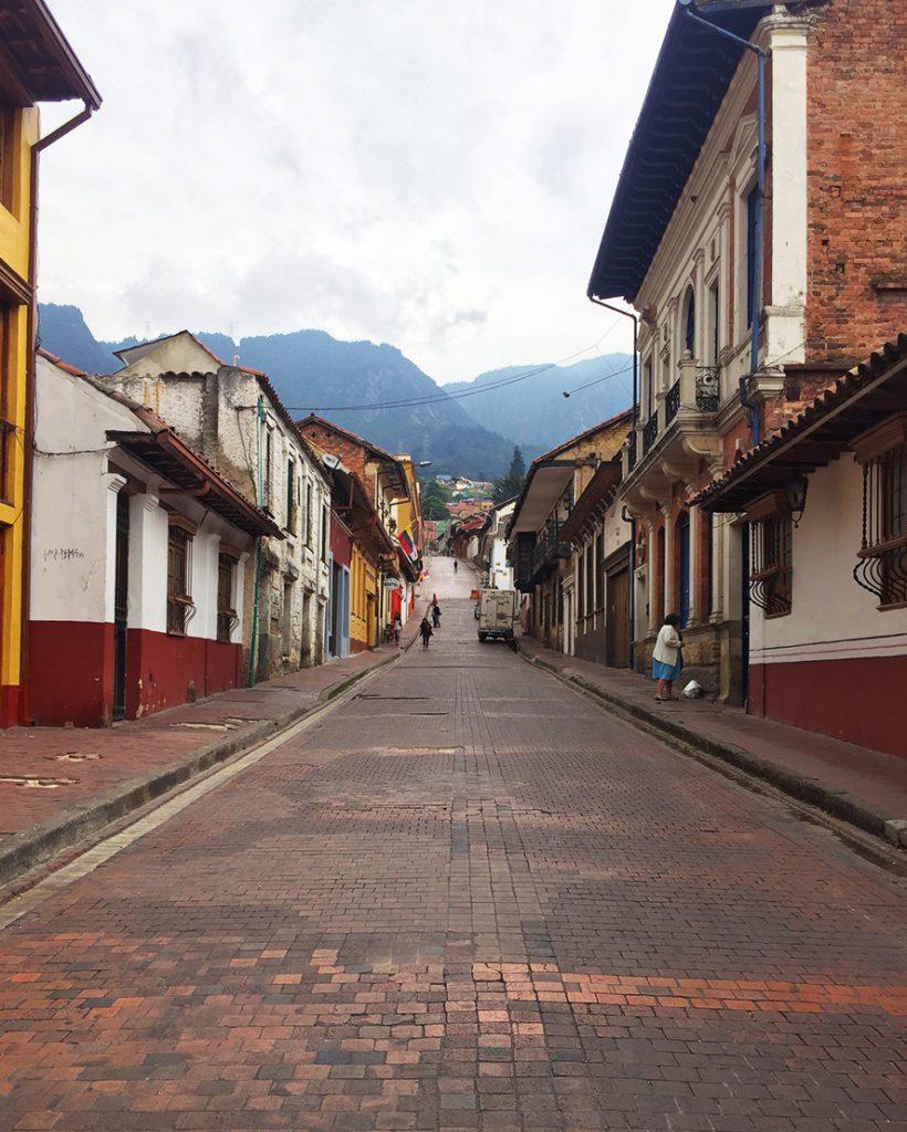 street in la candelaria bogota