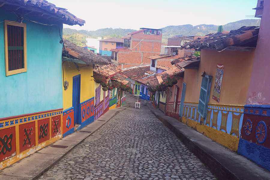 street of Guatape Colombia