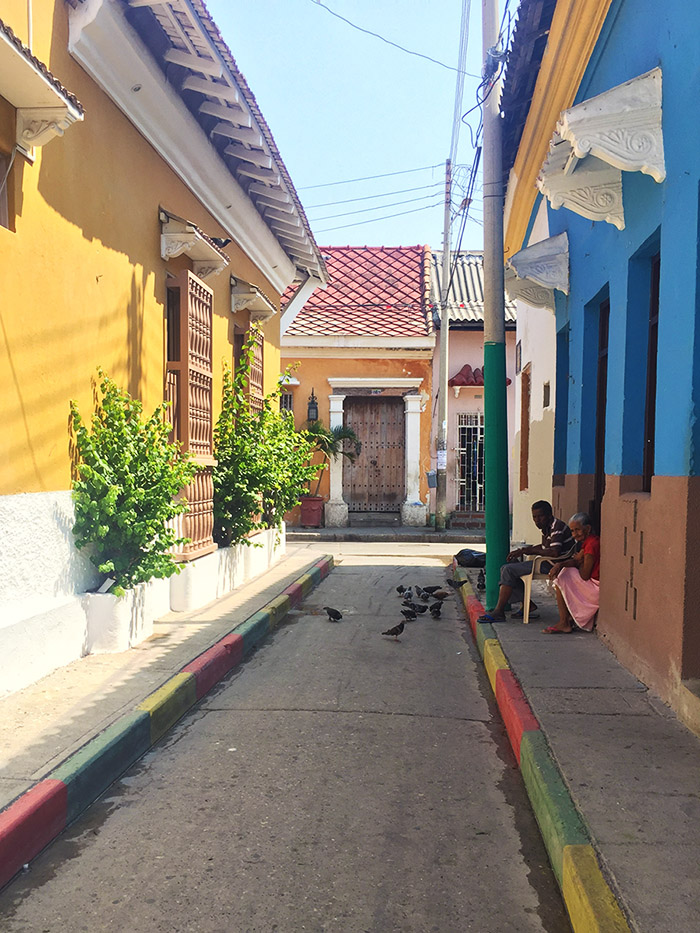 street in Getsamani Cartagena