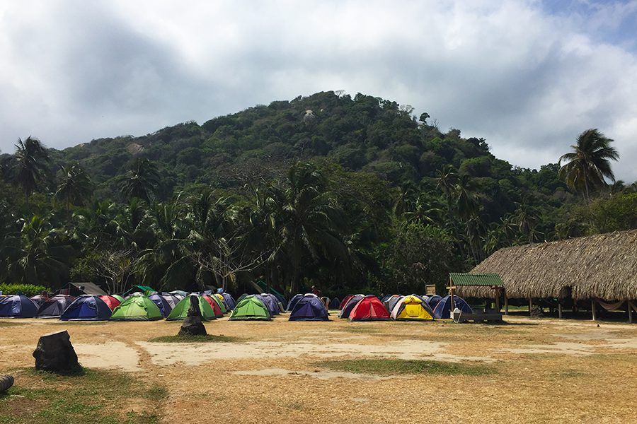 Tents for camping Parque Tayrona