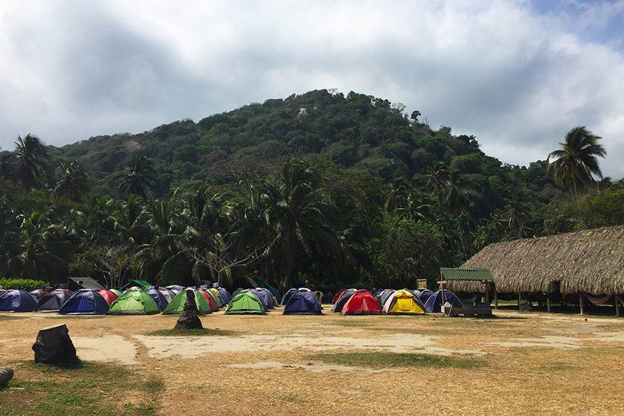 Tents for camping Parque Tayrona