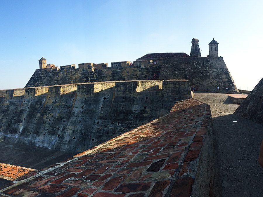 Top of the Castillo in Cartagena