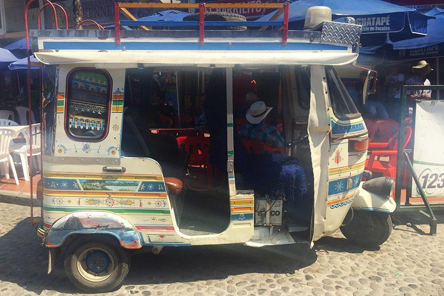 tuk tuk in Guatape Colombia