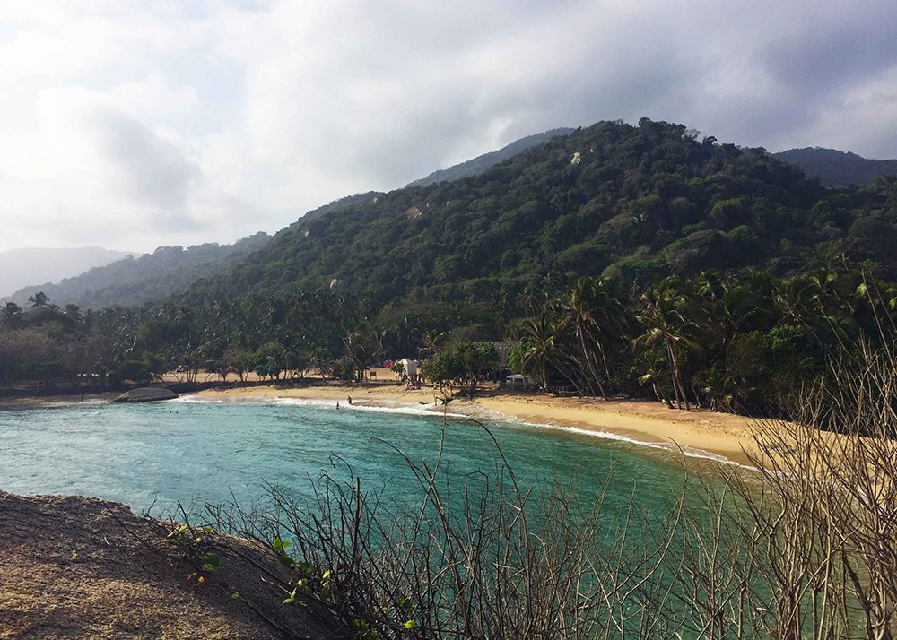 View of Cabo San Juan beach, Parque Tayrona