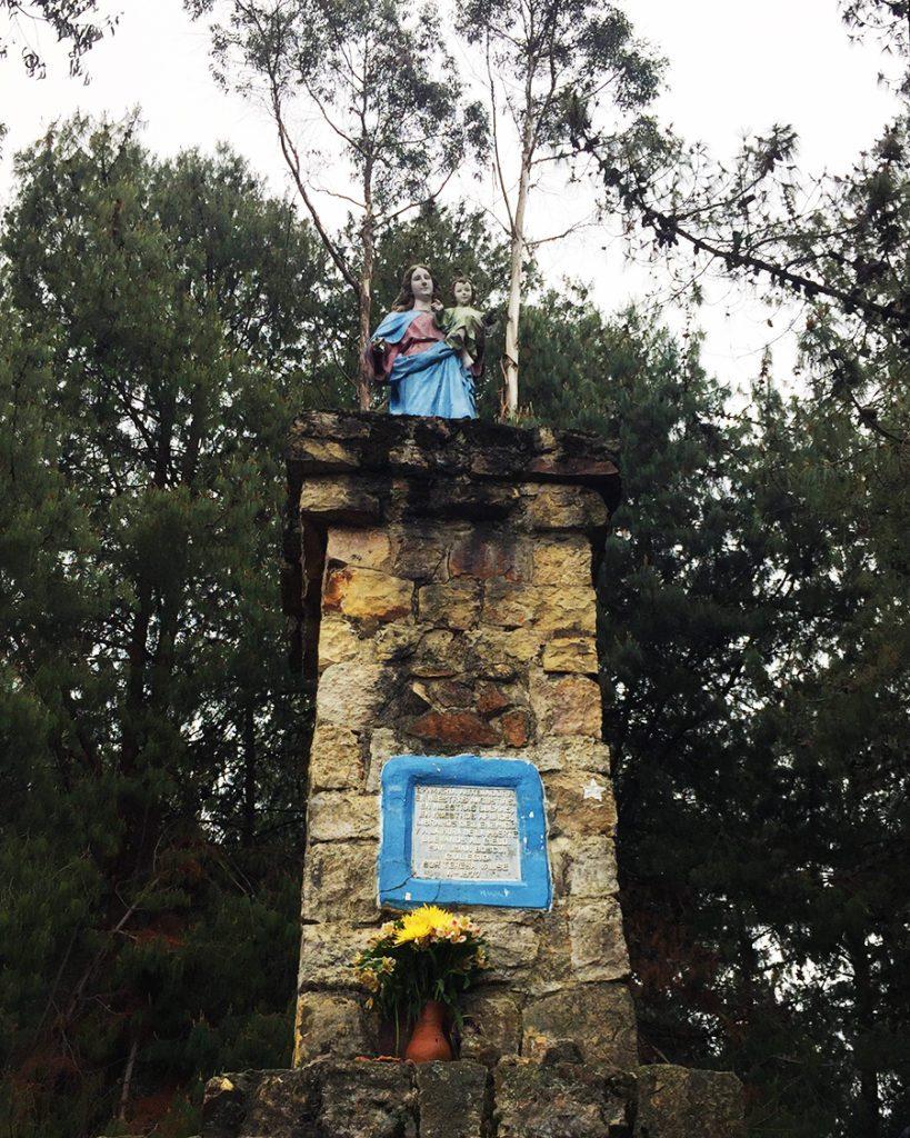 Virgen statue in Bogota