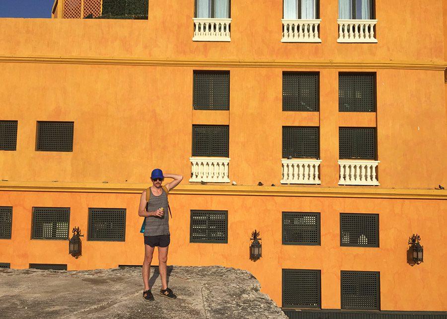 walking the wall in Cartagena