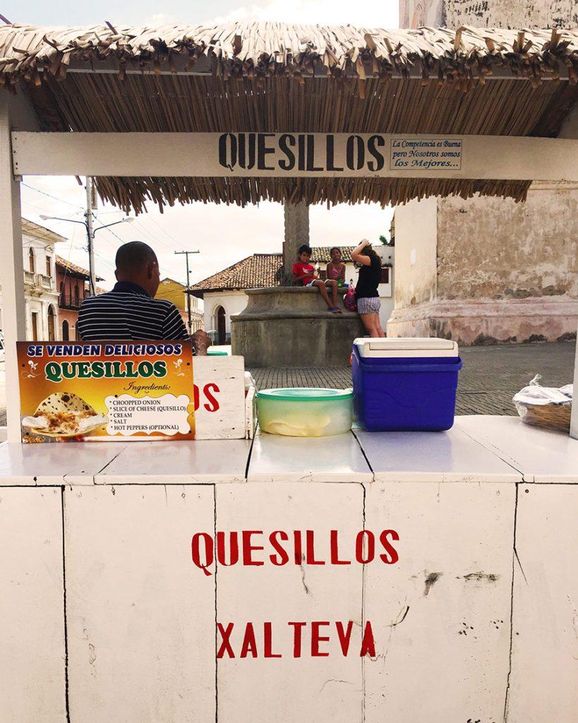 quesillo street food in Granada, Nicaragua