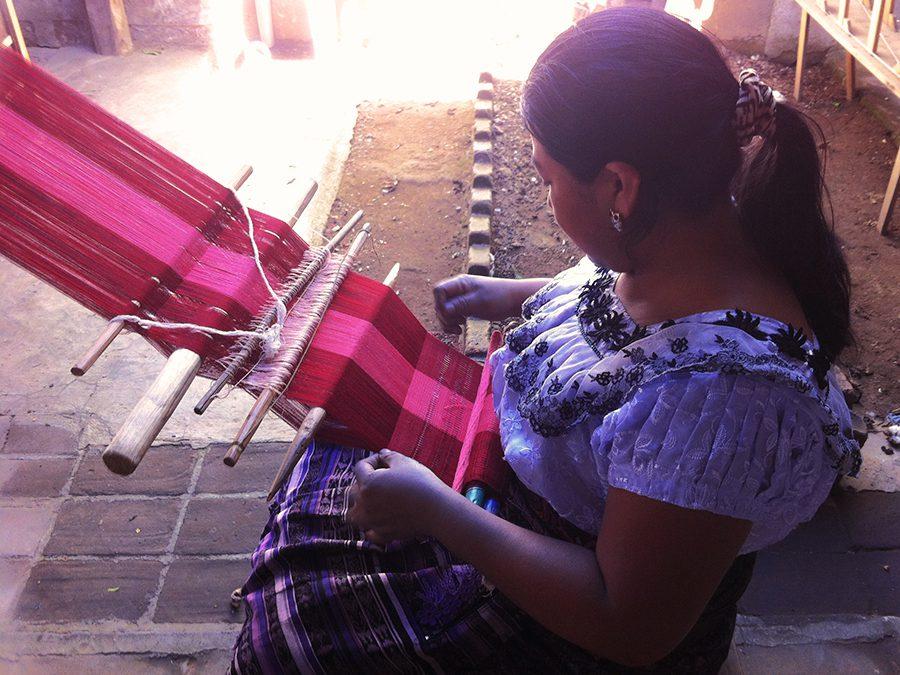 weaving textiles Lake Atitlan Guatemala