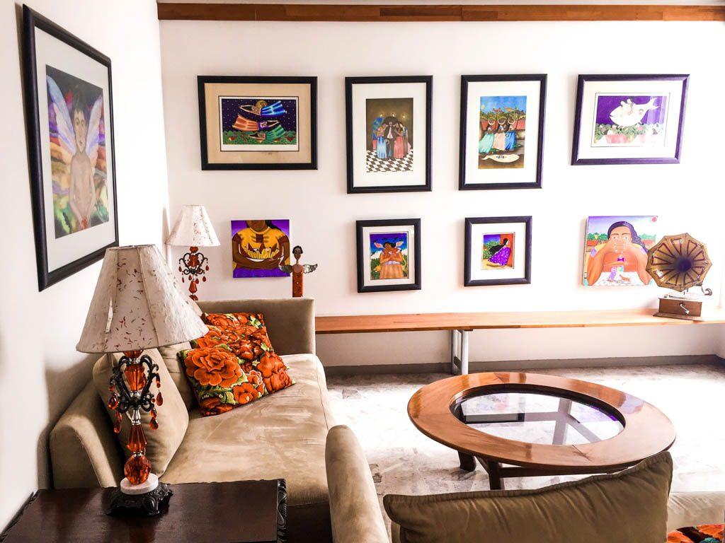 living room casa de las bugambilias