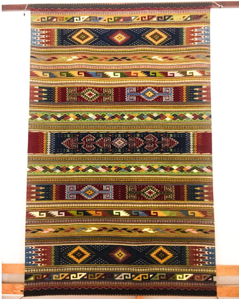 finished rug textiles in oaxaca