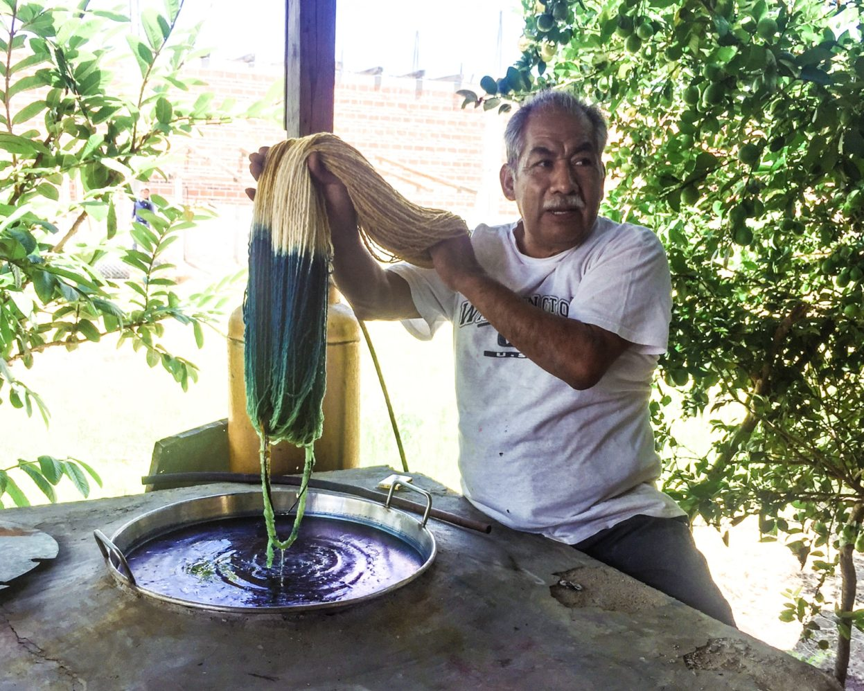 dip dye technique in mitla oaxaca