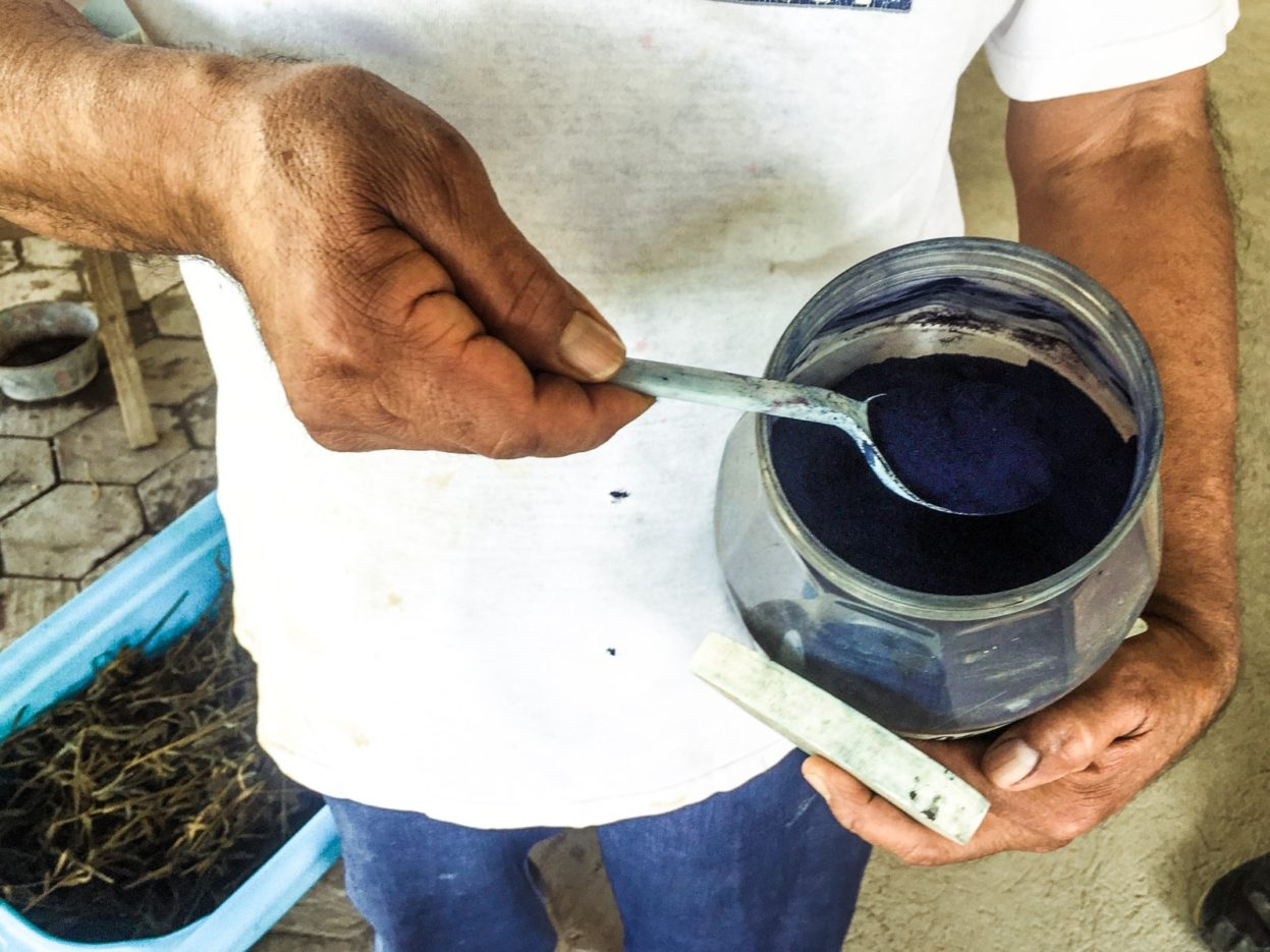 ground indigo natural dye