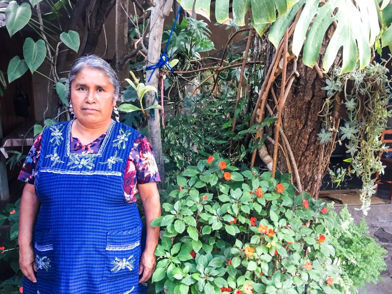 crispina navarro gomez weaver in santo tomas jalietza best oaxacan textiles tour