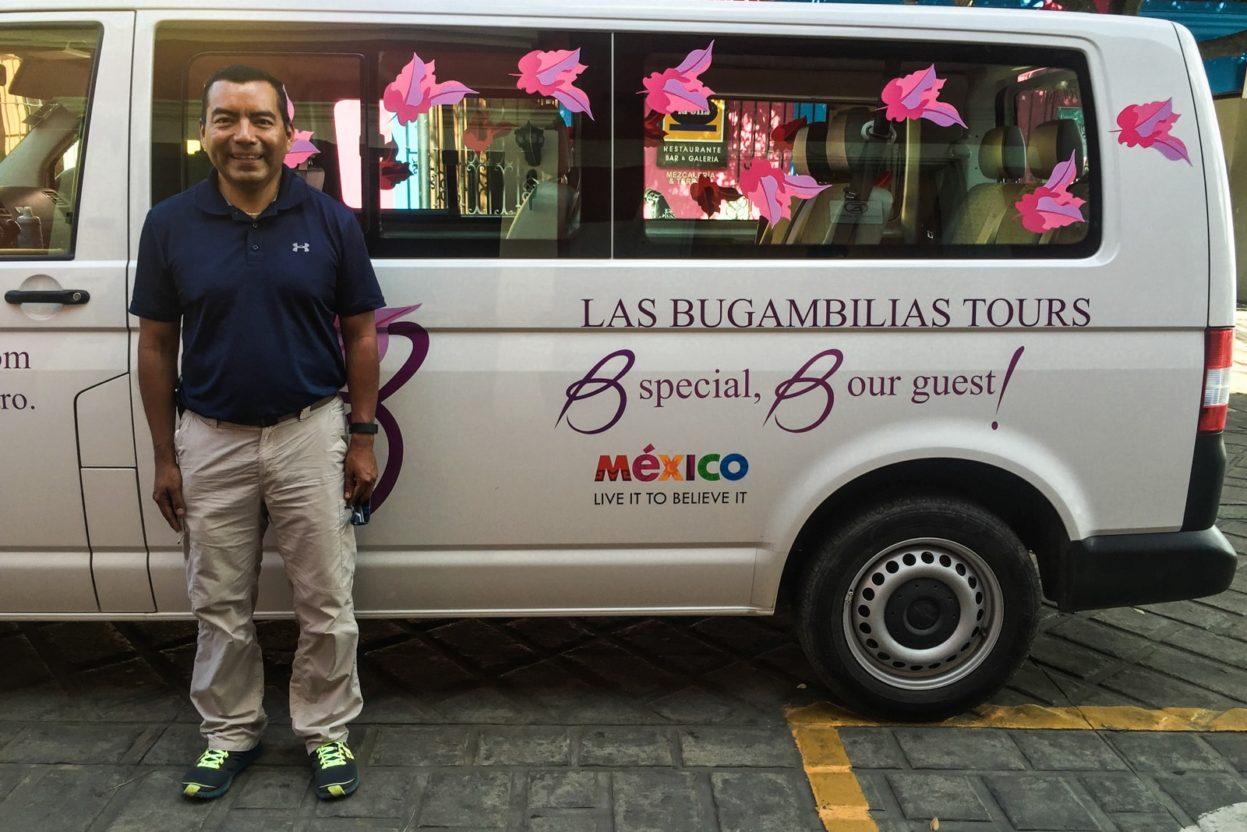 las bugambilias tours oaxacan textiles