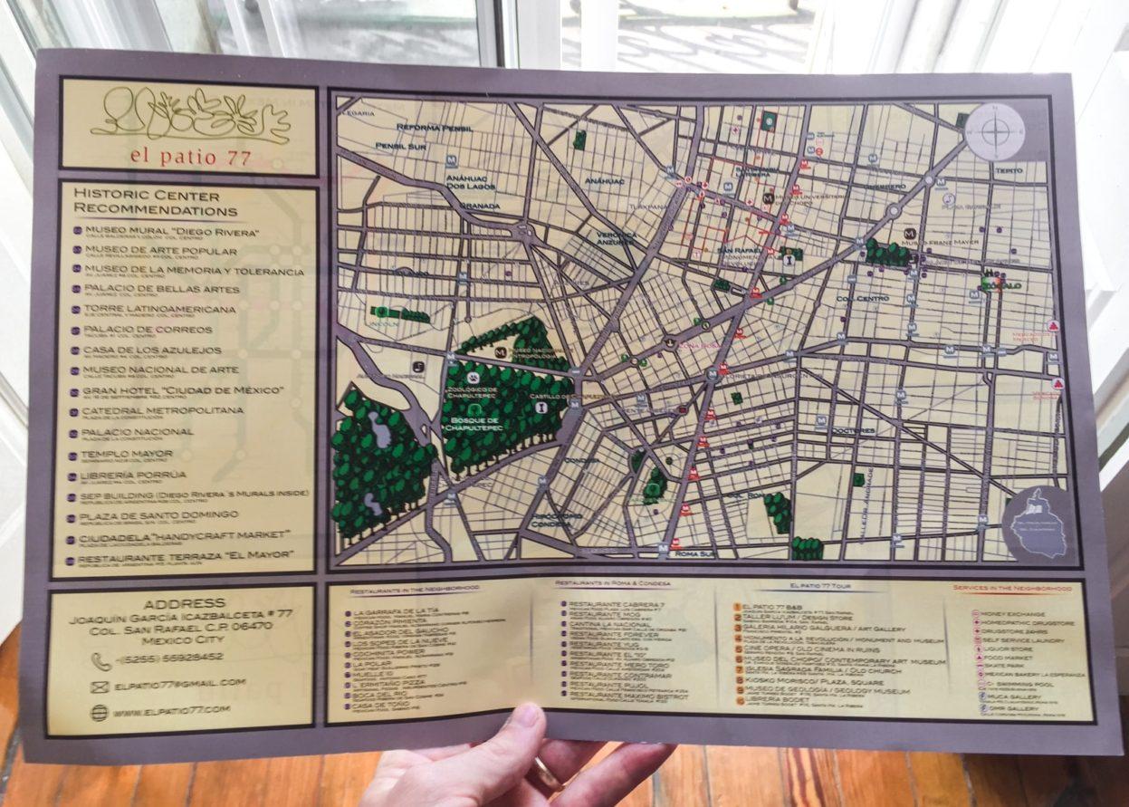 map at el patio 77