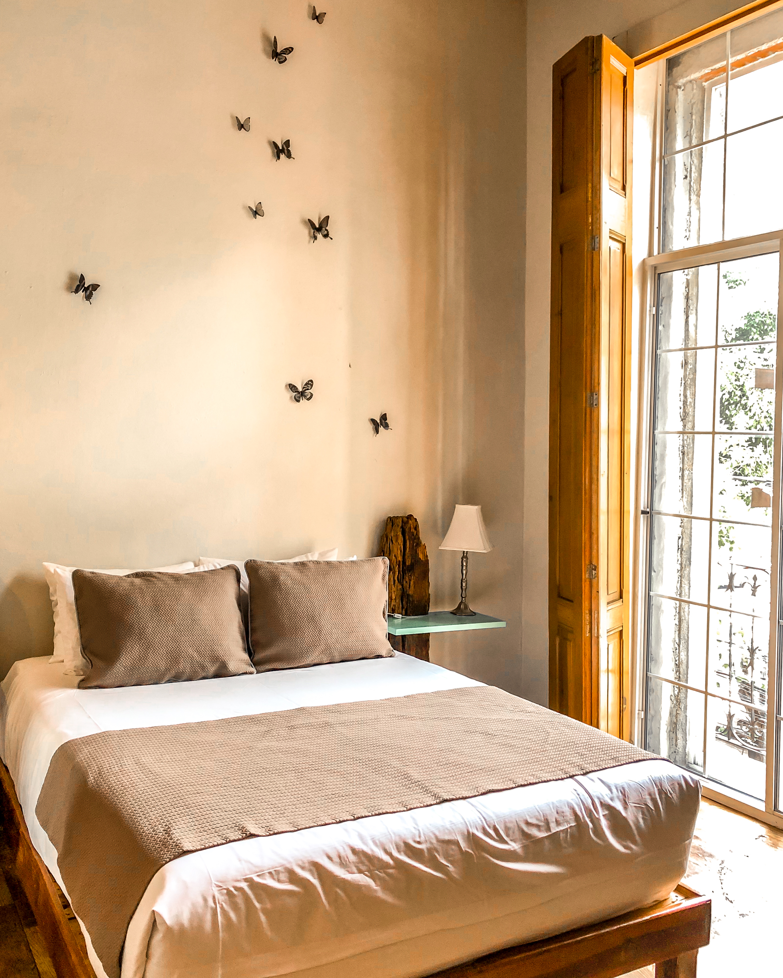boutique hotel in Mexico City Michoacan room with butterflies