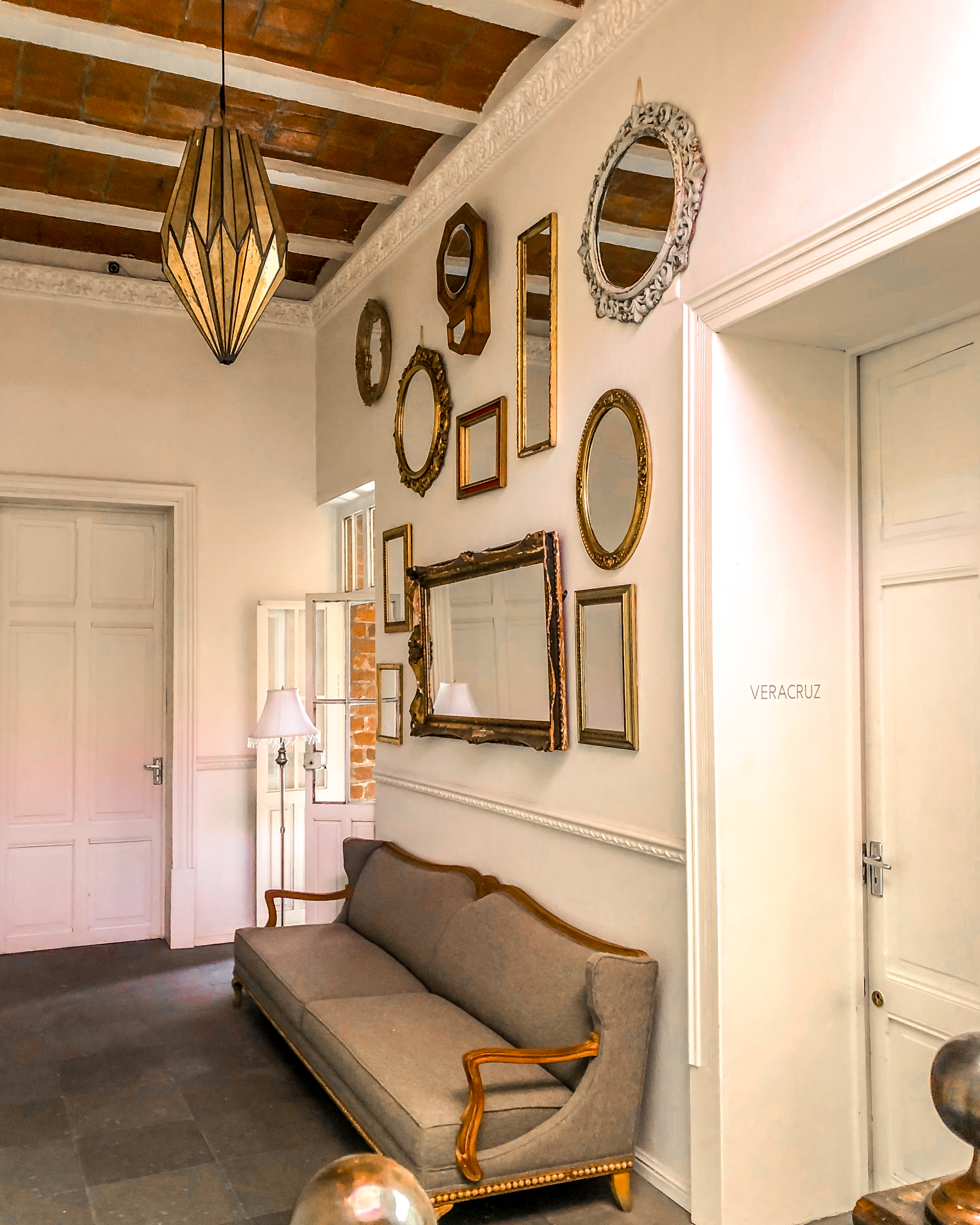 hallway in historic hotel in mexico city san rafael