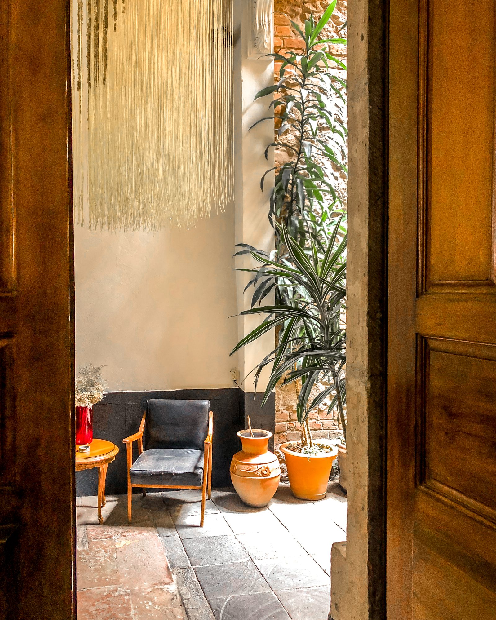 natural light in entrance boutique hotel in Mexico city