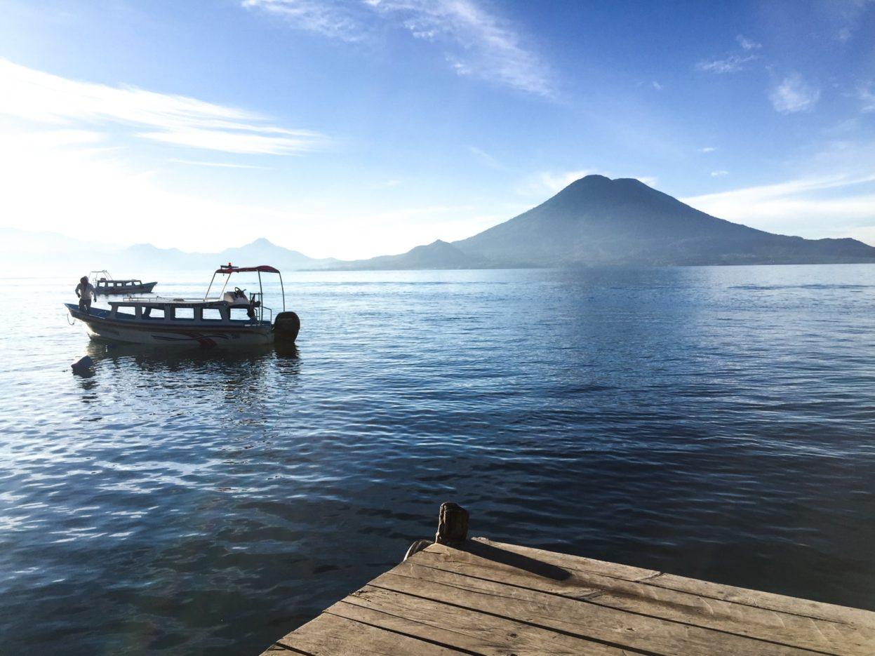 lancha boat lake atitlan guatemala