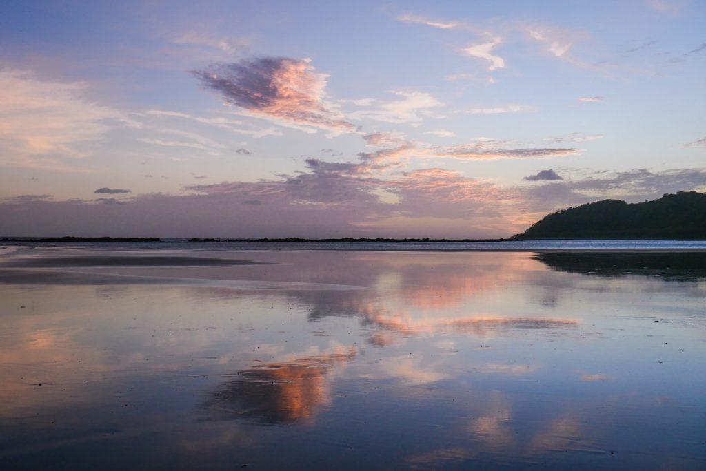 sunset on cambutal beach