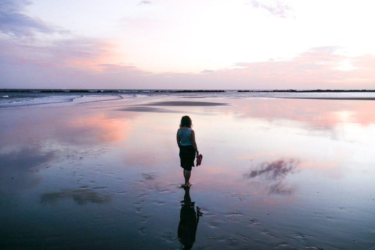 sunset on cambutal beach panama